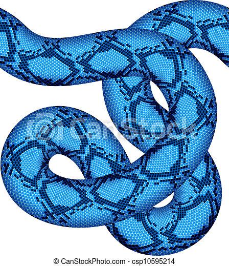 azul, vetorial, cobra, seamless - csp10595214