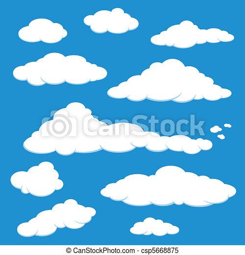 azul, vetorial, nuvem céu - csp5668875