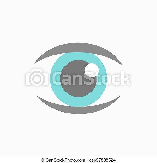 azul, vetorial, olho, ícone - csp37838524