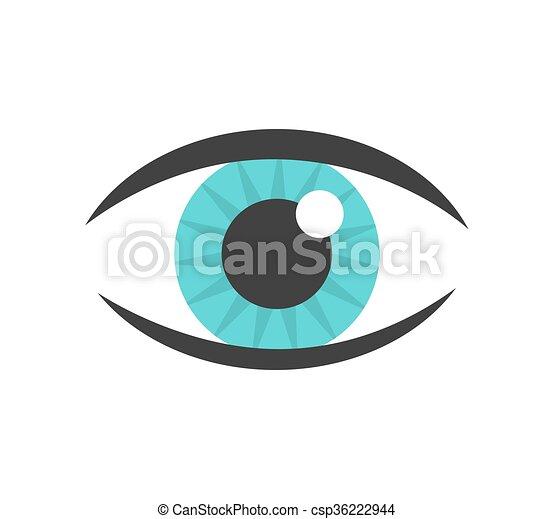 azul, vetorial, olho, ícone - csp36222944
