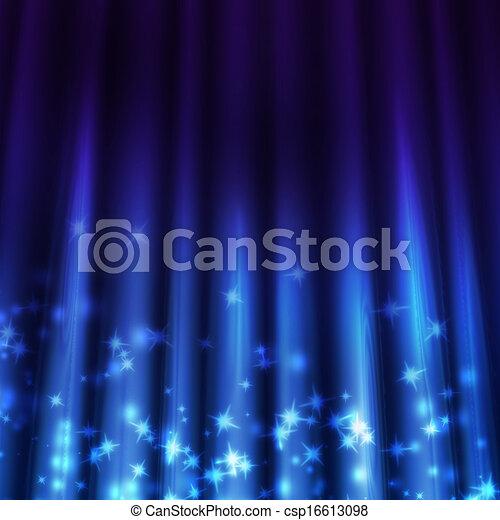 Trasfondo azul con rayos de luz brillando - csp16613098