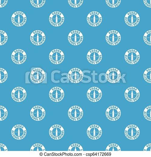 Buque de vodka de calidad vector azul marino - csp64172669