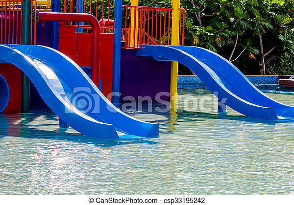 azul, waterslide - csp33195242