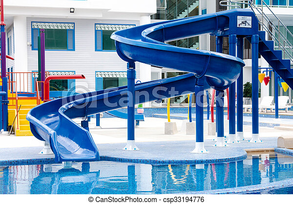 azul, waterslide - csp33194776