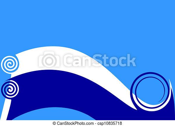 azul, wave. - csp10835718