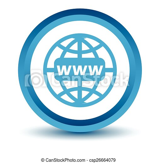 azul, www, ícone - csp26664079