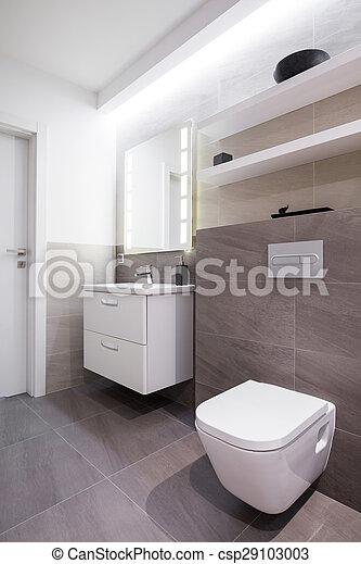 Tiles grises en el baño. Tejas grises en el baño en la casa ...