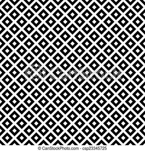 Cuadros blancos y negros en diagonal. Patrón de azulejos repite el pasado - csp23345725