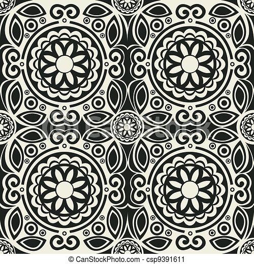 Azulejos Vector Seamless Arabesco Conservado Facilmente - Azulejos-con-dibujos