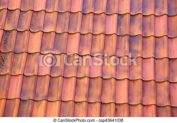 Viejas baldosas de arcilla - csp43641038