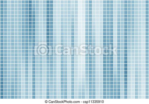 azur, azul, resumen, mosaicos cuadrados - csp11335910