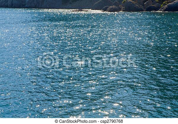 Azure sea water surface  - csp2790768