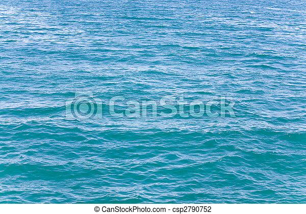 Azure sea water surface  - csp2790752
