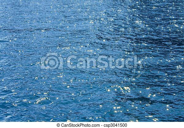 Azure sea water surface - csp3041500