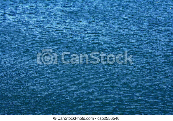 Azure sea water surface with ripple as background - csp2556548