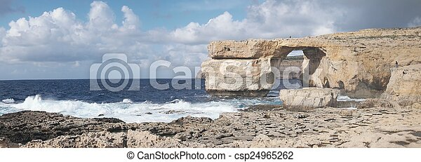 Azure Window, famous stone arch on Gozo island, Malta - csp24965262