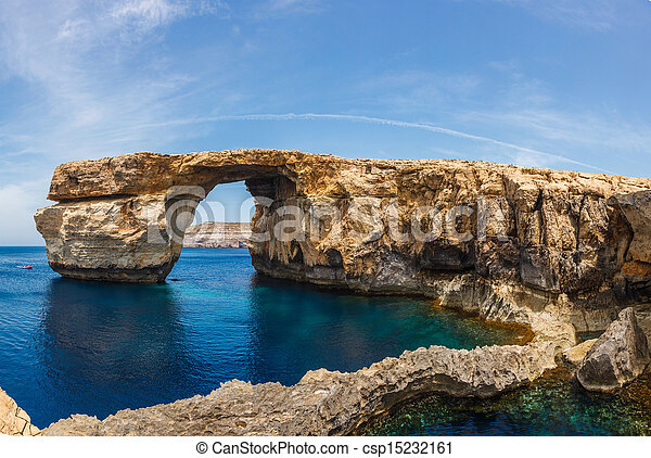 Azure Window, stone arch of Gozo, Malta - csp15232161