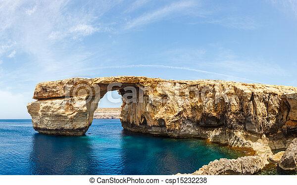 Azure Window, stone arch of Gozo, Malta - csp15232238