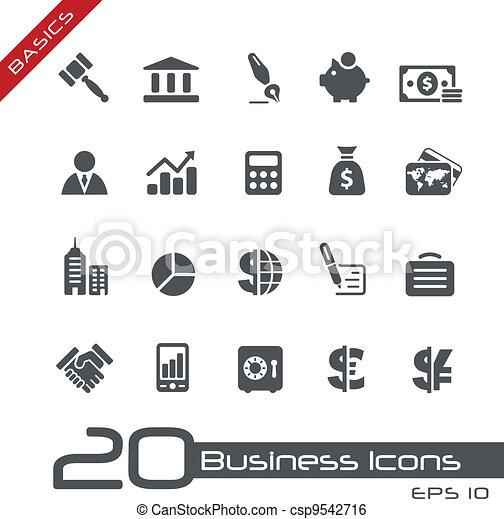 //, básico, finanças, negócio, &, ícones - csp9542716