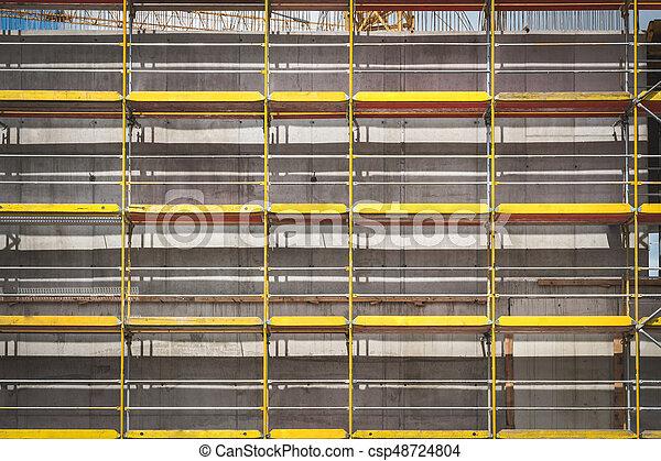 bâtiment, échafaudage, site, construction, façade - csp48724804