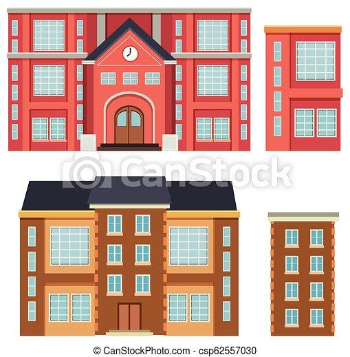 bâtiment, école, extérieur - csp62557030
