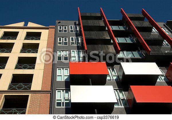 bâtiment, appartement, extérieur - csp3376619