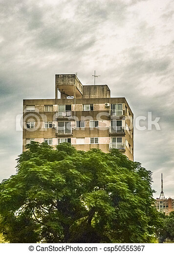 bâtiment, appartement, vue extérieure - csp50555367