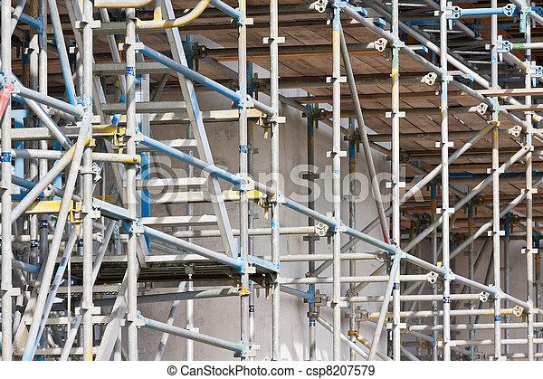bâtiment, béton, construction, échafaudage, site - csp8207579