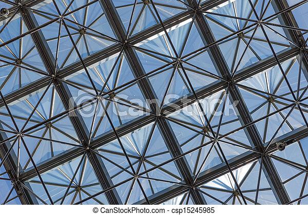 B timent bleu plafond bureau moderne ciel contre verre