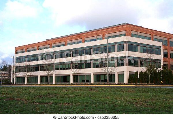 bâtiment, bureau - csp0356855