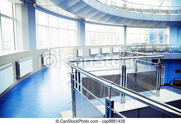 bâtiment, bureau, moderne, métal, détails, intérieur - csp8881438