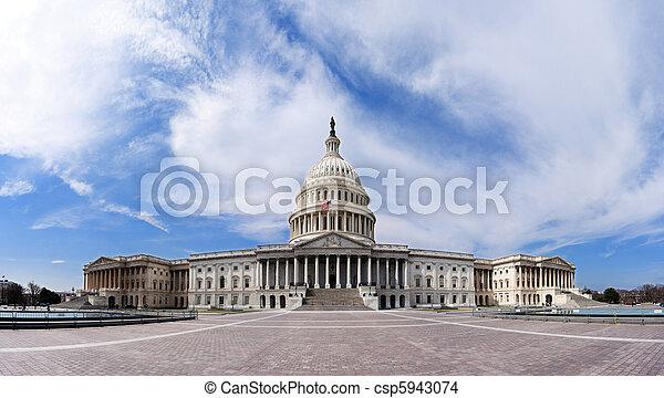 bâtiment, -, capitole, gouvernement américain - csp5943074