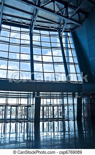 bâtiment, centre, business, vestibule - csp6769089
