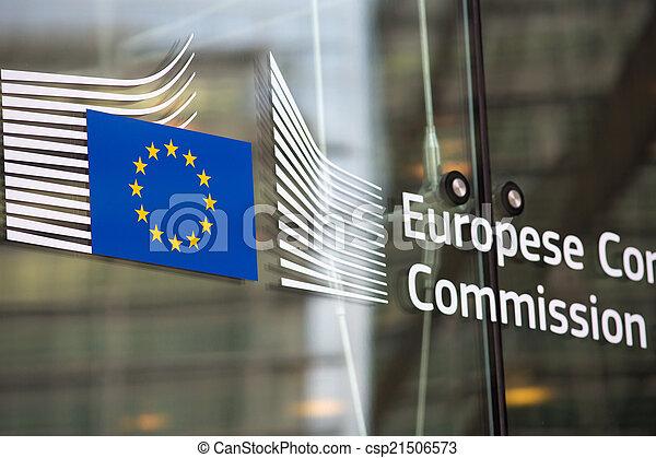 bâtiment, commission, officiel, européen, entrée - csp21506573