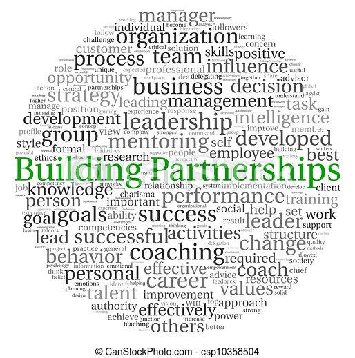 bâtiment, concept, mot, étiquette, nuage, partenariats - csp10358504