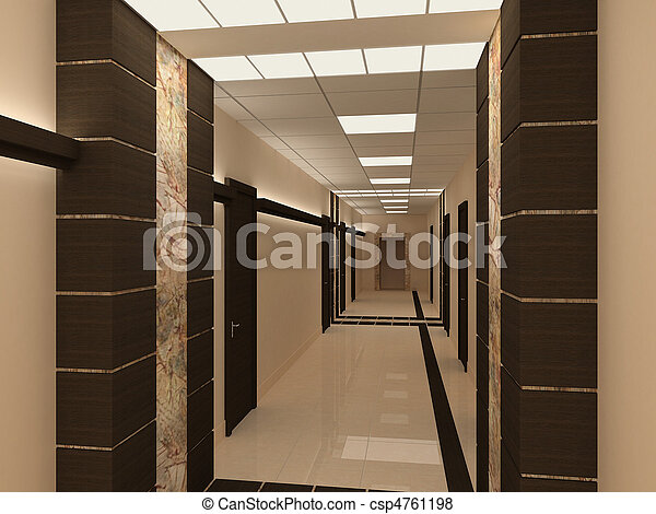 Bâtiment, couloir, moderne, vide. Bâtiment, bureau, moderne ...