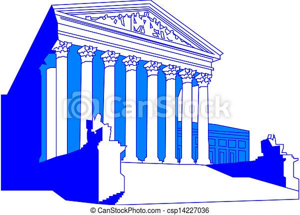 bâtiment, cour suprême, nous - csp14227036