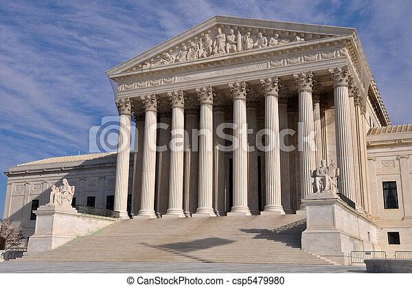 bâtiment, cour suprême, washington dc, nous - csp5479980