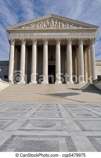 bâtiment, cour suprême, washington dc, nous - csp5479975