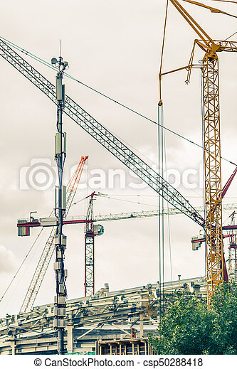 bâtiment, crains, site construction - csp50288418