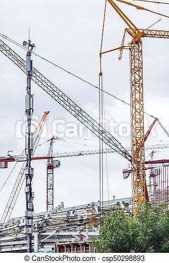 bâtiment, crains, site construction - csp50298893