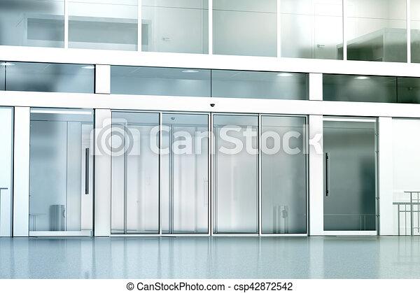 b timent entr e mockup commercial verre vide dessin rechercher des illustrations. Black Bedroom Furniture Sets. Home Design Ideas