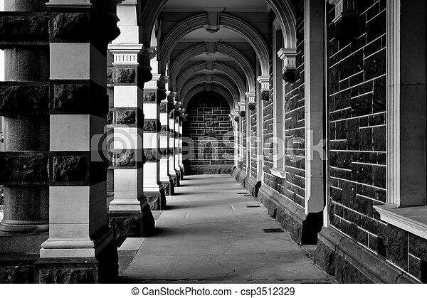 bâtiment, entrance. - csp3512329