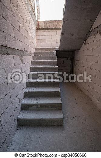 Bâtiment, Escalier, Maison, Ciment, Béton, Résidentiel, Structure