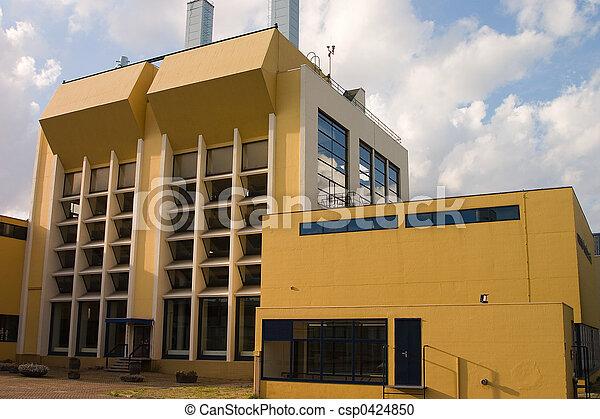 bâtiment, industriel, jaune - csp0424850