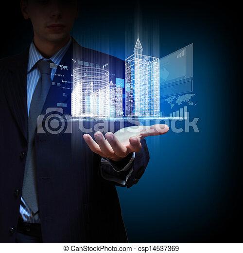 bâtiment, ingénierie, conception, automation - csp14537369