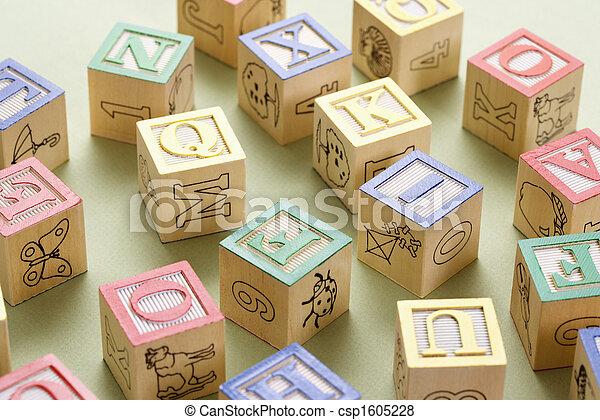 bâtiment, jouet, blocks. - csp1605228