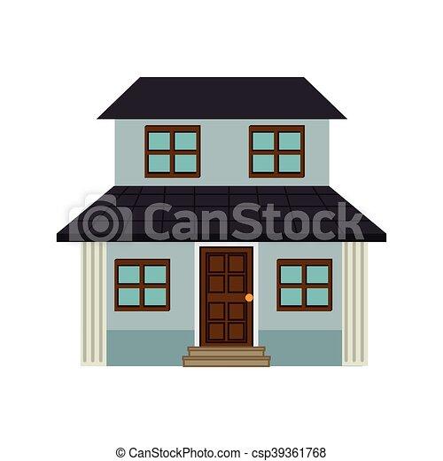 btiment maison architecture moderne rsidentiel vecteur - Architecture Moderne Maison Dessin