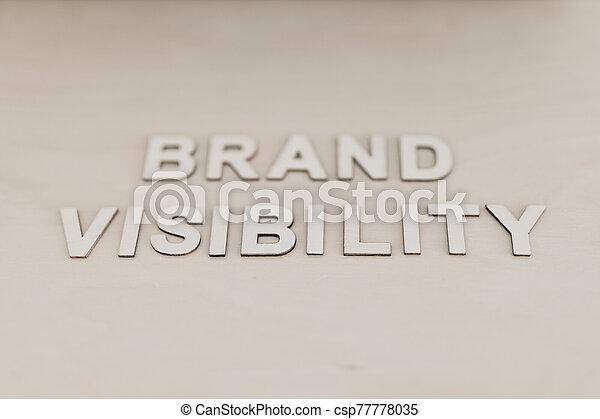 bâtiment, marque, visibilité, champ, monotone, message, réussi, peu profond, business, bureau, profondeur, concept, édition - csp77778035