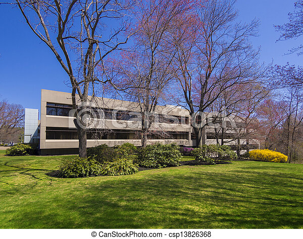 bâtiment, moderne, bureau - csp13826368
